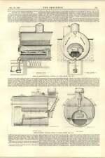 1892 dispositivo de prevención de humo Sennett para calderas de vapor Inyector Transformador