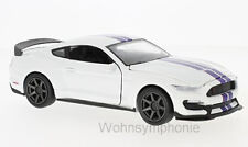 modello 1:24 FORD SHELBY GT350R, Bianco/BLU NEW RAY 71836