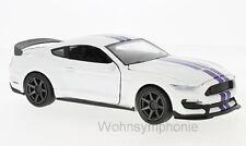 modèle 1:24 Ford Shelby GT350R, blanc/Bleu NEUF rayons 71836