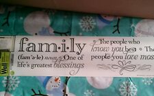 Family life's greatest blessings .....Wall Sticker Walll decorWALL WORD