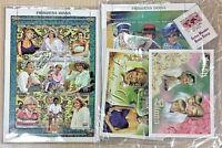 4 Princess Diana Block Stamps Souvenir Sheets Cert. of Authenticity