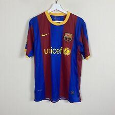 Nike Fc Barcelona Messi Unicef 2010 2011 Home Soccer Jersey Kit Adult Mens M