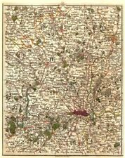 LONDON & HOME COUNTIES. Hertfordshire Middlesex Chilterns Luton. CARY 1794 map