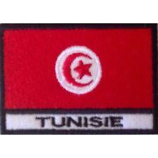 [Patch] BANDIERA TUNISIA cm 7 x 5 toppa ricamata ricamo TUNISIE -153