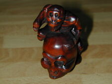 Netsuke Skull Skeleton Cranium Free Shipping Japan Antique Vintage