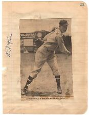1962 Mets RED KRESS Baseball Signed Photo, Died 1962!
