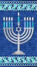 "Northcott Happy Hanukkah by Deborah Edwards 21260M 44 Panel 24"" Cotton"