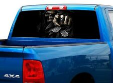 P460 Grim Reaper Rear Window Tint Graphic Decal Wrap Back Truck Tailgate