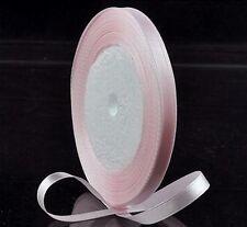 "5 Yards 6mm Wedding Pink Satin Ribbon Embroid Scrapbook Craft 1/4 """