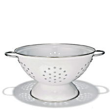 """New listing Stainless Steel Colander White 9 1/2 """" H"""