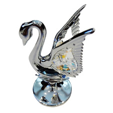 Crystocraft Swan Crystal Ornament With Swarovski Elements Gift Boxed Mothers Day