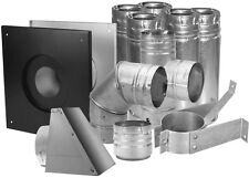 Multi-Fuels Pellet Stove Pipe Kit Horizontal Wall Chimney Vent 3 Inch PelletVent