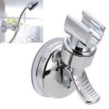 Shower Handset Holder Strong Suction Chrome Bathroom Wall Mounted Bracket Adjust