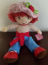 "20"" Plush Strawberry Shortcake Stuffed Character Doll w/ Cute Strawberry Hat NWT"