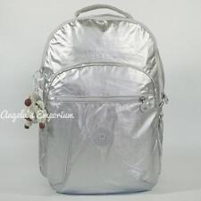 KIPLING SEOUL Backpack with Laptop Protection Platinum Metallic