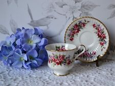 Vtg PARAGON TEACUP and SAUCER SET - Pink Roses SA1L, TEA CUP, bone china
