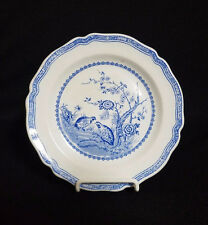SALAD PLATE BLUE QUAIL BY FURNIVALS ROUND QUAIL BACKSTAMP RARE FIND