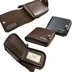 Men's Bifold Zipper Leather ID Credit Card Holder Clutch Billfold Purse Wallet