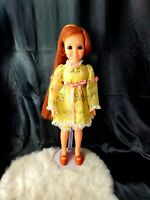1960s VINTAGE IDEAL BEAUTIFUL CRISSY DOLL HAIR GROWS complete yellow dress shoes