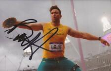 Athletics: Benn Harradine Signed 6x4 London 2012 Action Photo+Coa *Rio 2016*