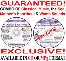 CLASSICAL BABY SLEEPS CD Mothers Heartbeat & Womb Noises Music LULLABIES NURSERY