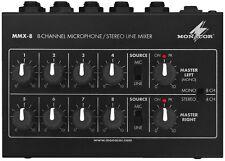Monacor DJ Miniatur Universal Audio Mischpult Mischer MMX-8 !!!
