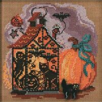 "Mill Hill Autumn Series Counted Cross Stitch Kit Haunted Lantern 5.25""X5.25"""