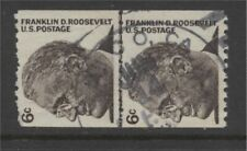 Scott #1298   LINE PAIR   1967 perf 10 Horz Roosevelt 6 cent used