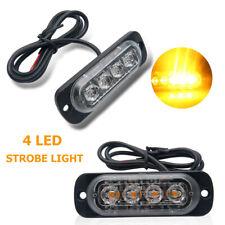 2 Stück 4LED 4W Stroboskop Blitzer Slim Flash Light Lampe Blitzlicht Blinker LKW