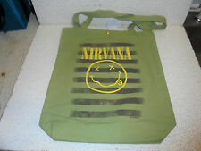 Nirvana Canvas Tote Bag New Awesome Gift Idea ( Kurt Cobain )