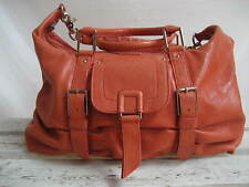 Botkier Sasha Medium Duffel Bag Coral Leather Zip Top Closure Retail $595