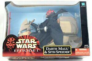 "Hasbro Star Wars 12"" Darth Maul & Sith Speeder Action Collection Figure New MIB"