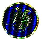 vtg prismatic sticker novelty Scottish Rite Free Mason crest symbol NOS