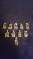 10x Tibetan Silver Owl Bird Charms Jewellery Making Bracelets, Earrings.