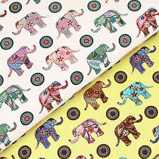 Cotton Fabric FQ Paisley Flower Indian Elephant Button Dot Spot Dress Quilt VS27