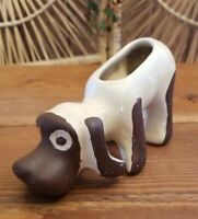 Vintage Shawnee Pottery Hound Dog Planter Glazed and Cold Painted Kitsch