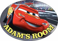 Disney Cars Personalised Door Plaque