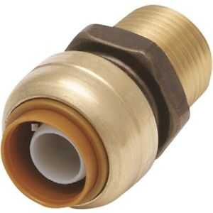 """VENTRAL Push Fit 3/4"""" x 3/4"""" Inch NPT Male Thread Adapter Fitting"""