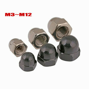 M3~M12 dome nut hex, metric bolt / screw with a nickel / zinc acorn hex cap