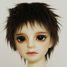 21~24cm 1/3 BJD SD Doll Hair DZ DOD LUTS Boy Short Straight Brown Costume Wig