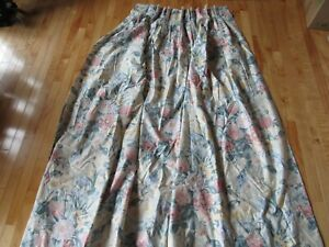 Waverly (?) Custom Made Lined 2 Panel (1 Pair) Drapes Curtains Lg Floral Have 8