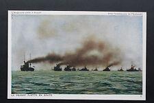 CPA animée - L'Angleterre prête à frapper - La Grande Flotte en Route (Bateau)