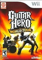 Guitar Hero: World Tour Nintendo Wii (2008) Disc with manual and case, VG cond.