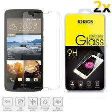 2x KHAOS HD Ballistic Tempered Glass Screen Protector For HTC Desire 828