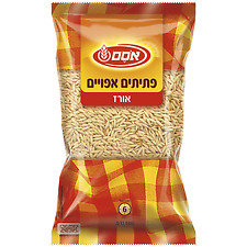 "Osem Israeli Rice-Shaped Baked Pasta Couscous ""Ptitim"" Kosher Parve 500gr"