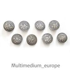 Trachten botones hl Georg matadragones 8 unidades Bavarian Silver Buttons