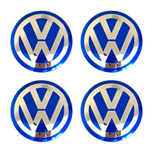 4X56mm Car Wheel Center Hub Cap Emblem Badge Decal Sticker for VW Volkswagen Blu