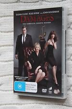 Damages: The Complete Fourth Season (DVD, 3-Disc set),Like new, free shipping