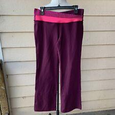Lululemon Astro Plum Raspberry Glo Light Hyper Stripe Women Yoga Pants 10T