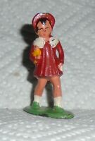 """VINTAGE Lead  Barclay """"Girl In Red Coat"""" B164 Excellent Cond. FREE SHIPPING"""
